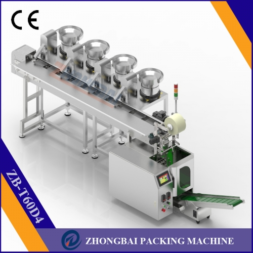 Counting Packing Machine with Four Bowls Chain Conveyor