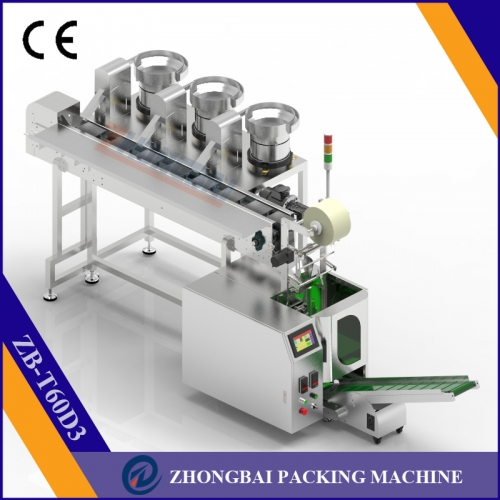Counting Packing Machine with Three Bowls Chain Conveyor