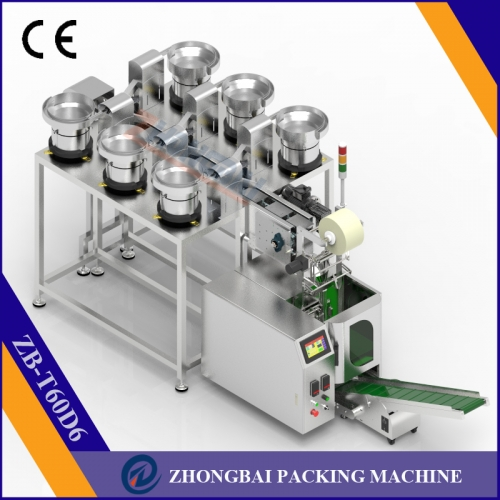 Counting Packing Machine with Six Bowls Chain Conveyor