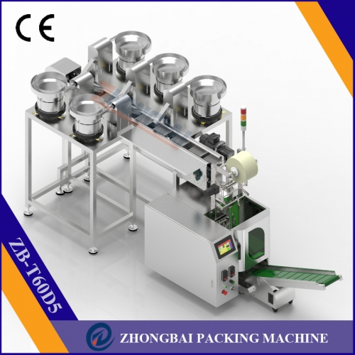Counting Packing Machine with Five Bowls Chain Conveyor